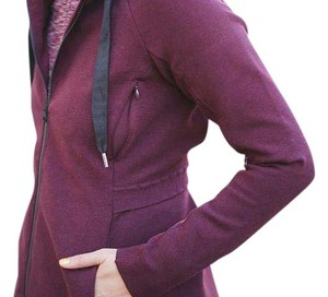 Lululemon Like New Lululemon Go Skyline Heathered Bordeaux Outwear Jacket Size 8