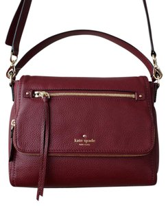 Kate Spade Leather Red Wine Cross Body Bag