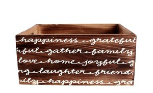 Wood Crate Wedding Home Decor Shower Guest Favors
