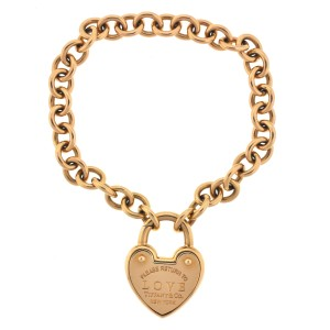 Tiffany & Co. Tiffany & Co Love Lock 18K Rose Gold Bracelet