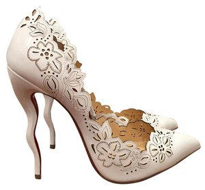 Christian Louboutin Beloved Curve Stiletto Patent Wedding white Pumps