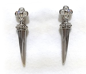 Scott Kay Platinum Diamond Earrings