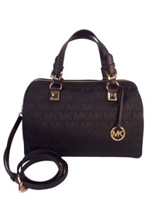 Michael Kors Jacquard Grayson Satchel in Black