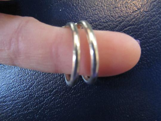 Unknown 100% Solid Sterling Silver Hoops Just under an inch in size PRISTINE!! Beautiful!