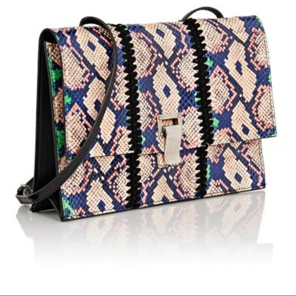 Shoulder Multicolor Snakeskin Blue Pink Natural Schouler Proenza Green Leather Bag pAq8Y