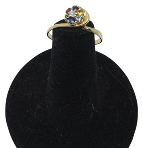 size 7.25, 14k yellow gold, multi-stone, fashion ring