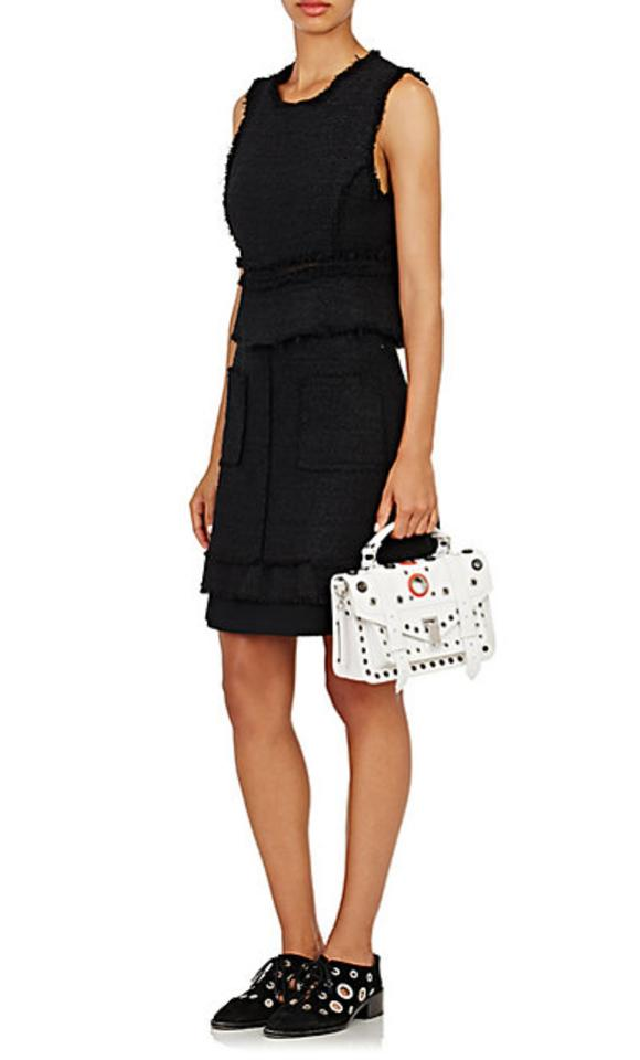 07a5b31663 Proenza Schouler Luxury Made In Italy Leather Metallic Hardware Perforated Shoulder  Bag Image 10. 1234567891011