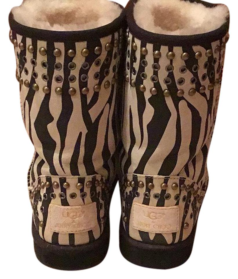 f5e763f813dc Jimmy Choo Multicolor Ugg Shearling Boots Booties Size US 7 Regular ...