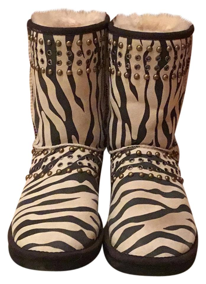 c0c15d7be37 Jimmy Choo Multicolor Ugg Shearling Boots Booties Size US 7 Regular ...