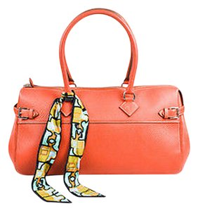 Hermès Atlas Rosy Clemence Leather Palladium Hw Handbag Tote in Orange