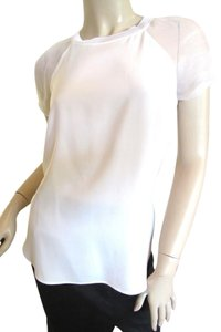 Ralph Lauren Silk Silk Tee Silk T-shirt Top White