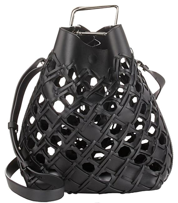 3.1 Phillip Lim Bucket Quill Black Leather Shoulder Bag 3.1 Phillip Lim Bucket Quill Black Leather Shoulder Bag Image 1