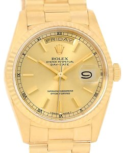 Rolex Rolex President Day-Date 18k Yellow Gold Mens Watch 18238
