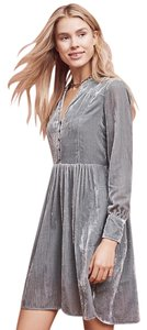 Anthropologie short dress Grey Anthro Velvet Holding on Tradesy