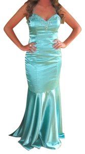 Forever Yours Satin Sequin Mermaid Prom Dress