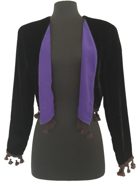 Preload https://img-static.tradesy.com/item/20345981/black-nr1-by-ned-gould-purple-rain-velvet-bolero-jacket-size-4-s-0-1-650-650.jpg