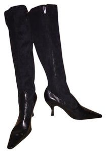 Franco Sarto Black Suede with Blk leather trim Boots