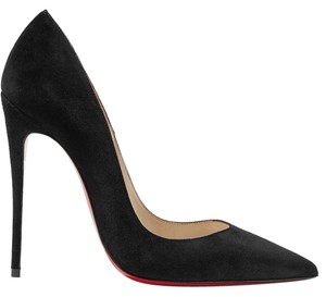 Christian Louboutin New Season Kate 120mm Suede Black Pumps