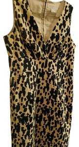 Michael Kors short dress Cheetah Print V-neck A-line on Tradesy