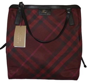 Burberry Buckleigh Tote Nova Charcoal Check # Shoulder Bag