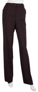 Céline Trouser Pants Burgundy Brown