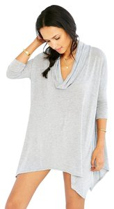 Silence + Noise Cowl Oversized Heather Tunic