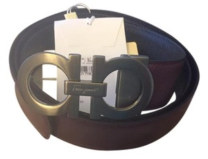 Salvatore Ferragamo Reversible and Adjustable Belt Salvatore Ferragamo - black and brown