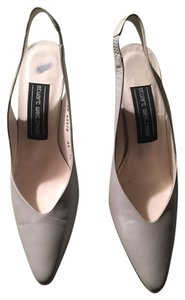 Stuart Weitzman Pearlized Gray Pumps
