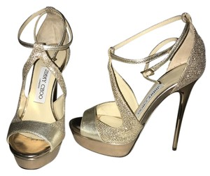Jimmy Choo light gold Pumps
