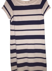 Banana Republic short dress navy and cream on Tradesy