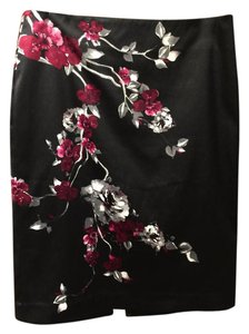 White House | Black Market Skirt Black, bright pink/magenta, white, gray