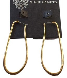 Vince Camuto Vince Camuto Basics Elongated Silver/Gold Hoop Earrings