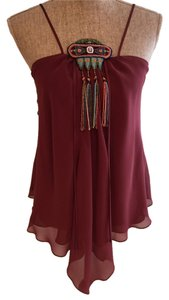 Silk Evening Casual Top Plum