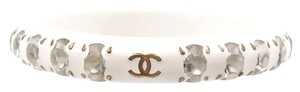Chanel Vintage Chanel Gem Stone White Bangle Bracelet