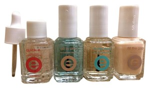 Essie LOT OF FOUR ESSIE QUICK-E DRYING DROPS BASE + TOP NO CHIPS FILL GAP