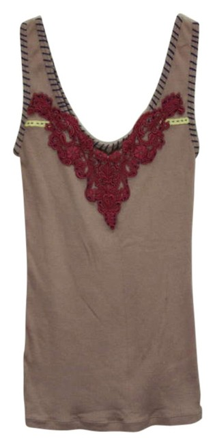 Preload https://item3.tradesy.com/images/free-people-brown-lace-and-stitch-ribbed-tank-topcami-size-4-s-203467-0-0.jpg?width=400&height=650