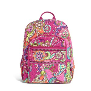Vera Bradley Retired Pattern Zipper Pink Backpack