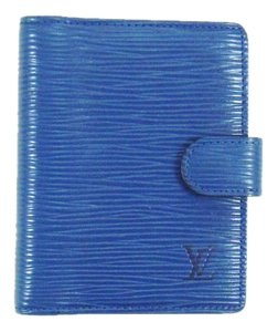 Louis Vuitton Card Credit Case Wallet Agenda Epi Coated Leather w/ Box