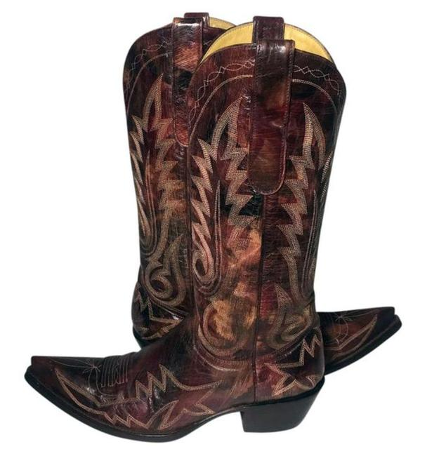 Old Gringo Burgundy Leather Cowgirl Women's Boots/Booties Size US 7.5 Regular (M, B) Old Gringo Burgundy Leather Cowgirl Women's Boots/Booties Size US 7.5 Regular (M, B) Image 1