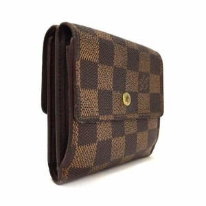 Louis Vuitton Damier Ebene Elise Double Snap Wallet