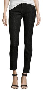 Current/Elliott Bonded Lace Skinny Jeans-Dark Rinse