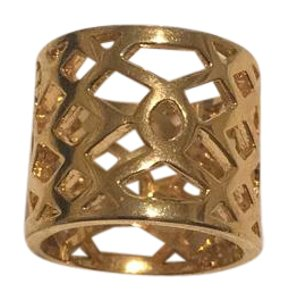 Tory Burch Criss-Cross Wide Band Ring