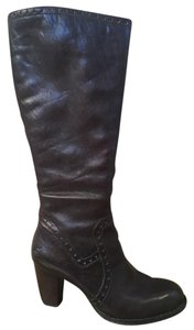 Brn Born Leather Long Brown Boots