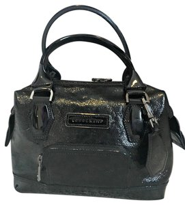 Longchamp France Doctor Patent Satchel in Black