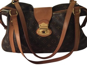 Authentic Louis Vuitton Stresa GM Bag Tote in Brown
