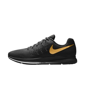 Nike All black with gold swoosh Athletic