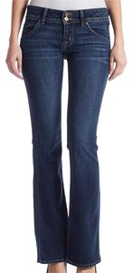 Hudson Jeans Double Button Hudson Designer Boot Cut Jeans-Dark Rinse
