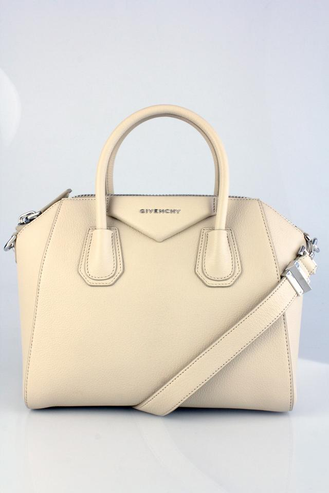 7fa3f75ede Givenchy Small Antigona Satchel Beige Grained Leather Shoulder Bag ...