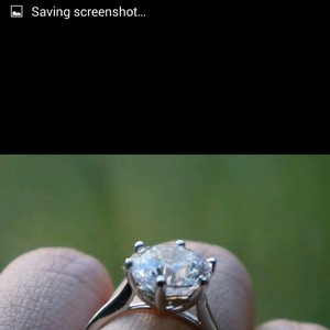 Brand-new Size 8 Single Solitary Large Engagement Sterling Silver Ring Diamond Cz