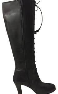 Tahari Lace-up Tall black Boots